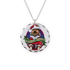 Santa Paws Necklace Circle Charm