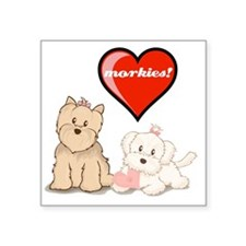 "teddy-bear-tshirt Square Sticker 3"" x 3"""