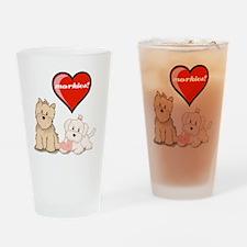 teddy-bear-tshirt Drinking Glass