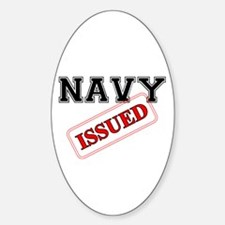 Navy Issued Oval Decal
