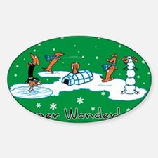 WONDERLANDACRD Sticker (Oval)