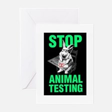 STOP ANIMAL TESTING Greeting Cards (Pk of 10)