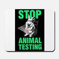 STOP ANIMAL TESTING Mousepad