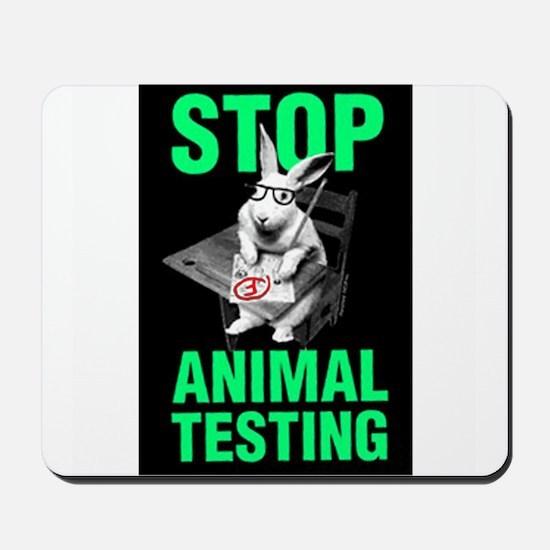 STOP ANIMAL TESTING Mousepad