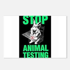 STOP ANIMAL TESTING Postcards (Package of 8)