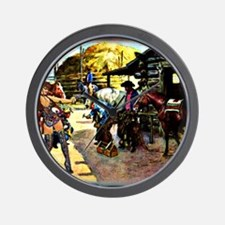 Sexy Cowgirl  Cowboys  Horses 11x9 Wall Clock