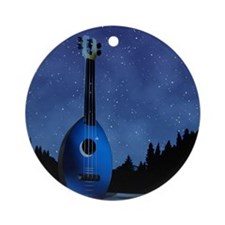 Camp Flea Ukulele Round Ornament