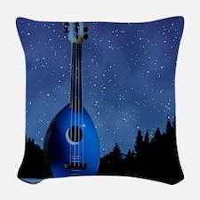 Camp Flea Ukulele Woven Throw Pillow