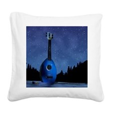 Camp Flea Ukulele Square Canvas Pillow