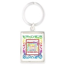 Blanket GH rainbow copy Portrait Keychain