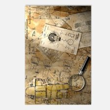 Steampunk Blueprint Postcards (Package of 8)