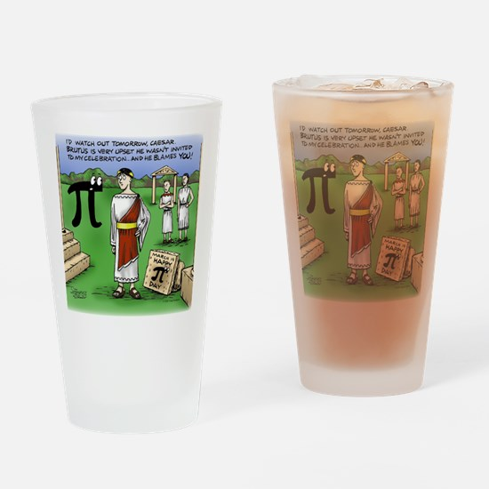 Pi_48 Caesar Ides of March (17.5x11 Drinking Glass