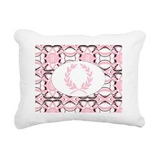 graphic design pink tone Rectangular Canvas Pillow