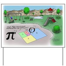 Pi_65 Fibonacci Hopscotch (17.5x11.5 Col Yard Sign
