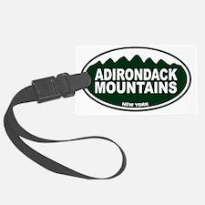 Adirondack Mountains Oval Luggage Tag