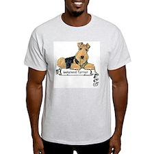 Lakeland Terrier Banner Ash Grey T-Shirt