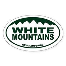 White Mountains Oval Decal
