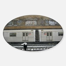 Brooklyn Snow Sticker (Oval)
