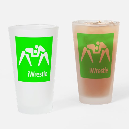 iWrestle.eps Drinking Glass