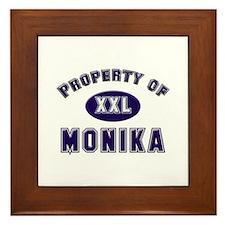 Property of monika Framed Tile