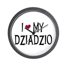 I Love My Dziadzio Wall Clock