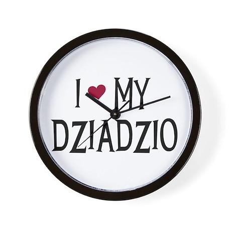 I Love My Dziadzio Wall Clock