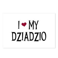 I Love My Dziadzio Postcards (Package of 8)