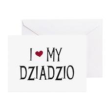 I Love My Dziadzio Greeting Cards (Pk of 10)