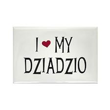 I Love My Dziadzio Rectangle Magnet