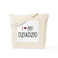 I Love My Dziadzio Tote Bag
