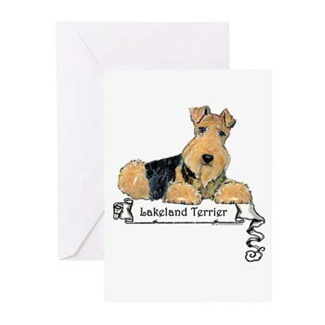 Lakeland Terrier Banner Greeting Cards (Package of