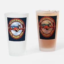 doberman-BUT Drinking Glass