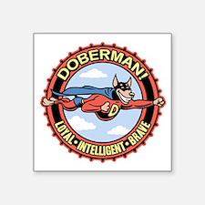 """doberman-T Square Sticker 3"""" x 3"""""""