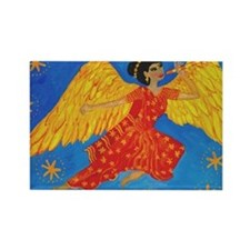 Indian angel cropped for cafepres Rectangle Magnet