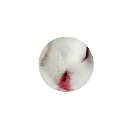 white cat panel print Mini Button