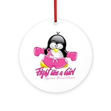 BC-Fighting-Penguin Round Ornament