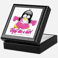 BC-Fighting-Penguin Keepsake Box