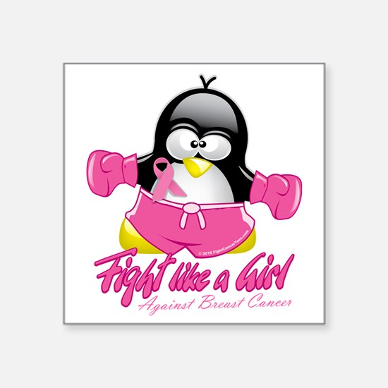 "BC-Fighting-Penguin Square Sticker 3"" x 3"""