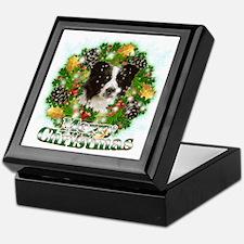 Merry Christmas Border Collie Keepsake Box