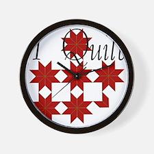 QuiltStar Wall Clock
