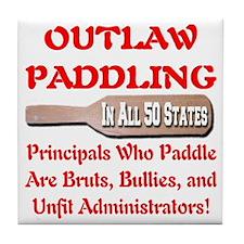 outlaw_paddling_transparent Tile Coaster