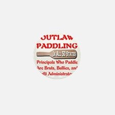 outlaw_paddling_transparent Mini Button