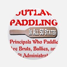 outlaw_paddling_transparent Round Ornament