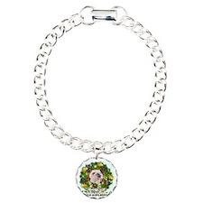 Merry Christmas Bulldog Charm Bracelet, One Charm