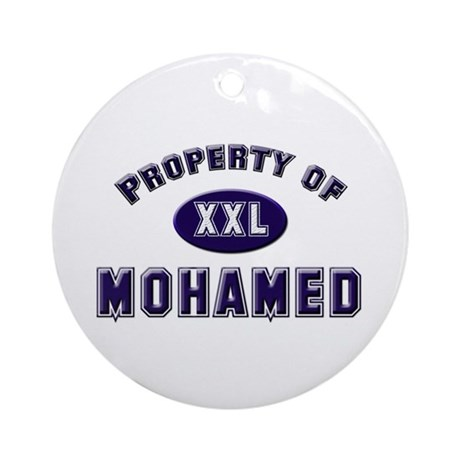Property of mohamed Ornament (Round)