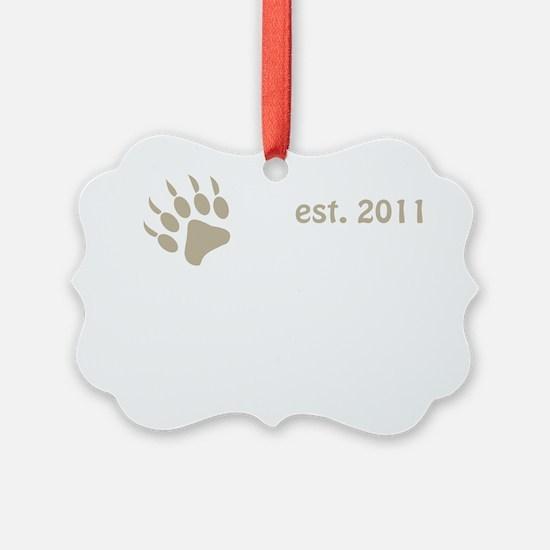 papa bear claw 2011_dark Ornament