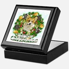 Merry Christmas Corgi Keepsake Box