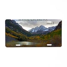 Scenic Calendar 2011 Aluminum License Plate