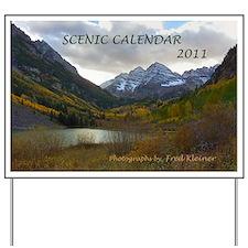 Scenic Calendar 2011 Yard Sign