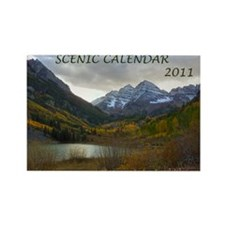 Scenic Calendar 2011 Rectangle Magnet